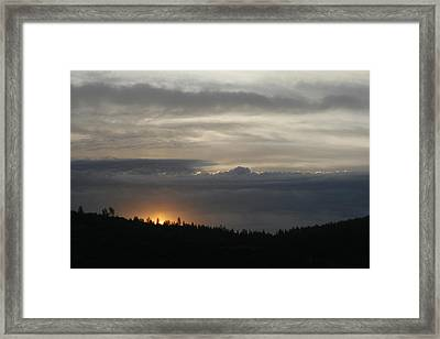 Sun Rises On Ridge Framed Print