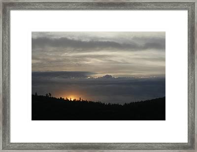 Sun Rises On Ridge Framed Print by Suzanne Lorenz