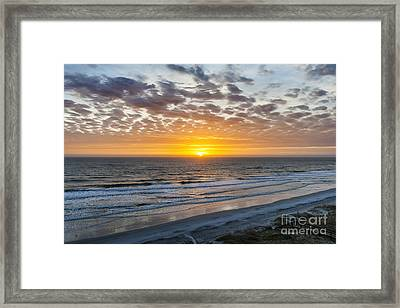 Sun Rising Over Atlantic Framed Print