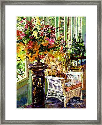 Sun Room Framed Print by David Lloyd Glover