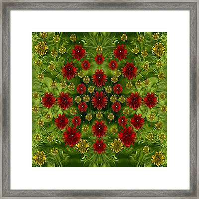 Sun Roses In The Deep Dark Forest With Fantasy And Flair Framed Print