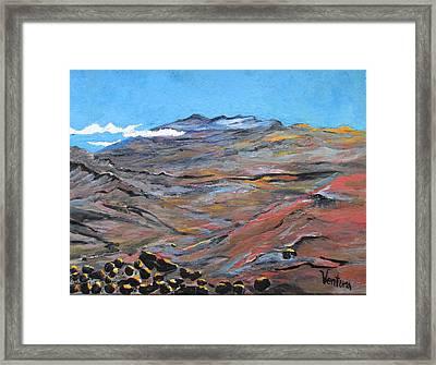 Sun Salutation At Haleakala Framed Print