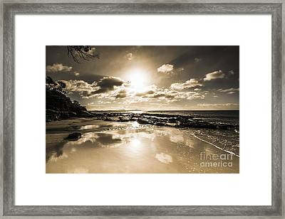 Sun Sand And Sea Reflection Framed Print by Jorgo Photography - Wall Art Gallery