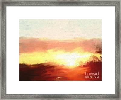 Sun Set 021516 1a Framed Print