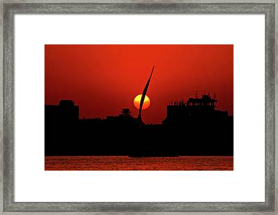 Sun Set Framed Print by Chaza Abou El Khair