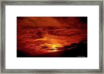 Sun Set II Framed Print by Chaza Abou El Khair