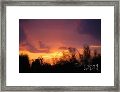 Sun Set Framed Print by Jan Daniels