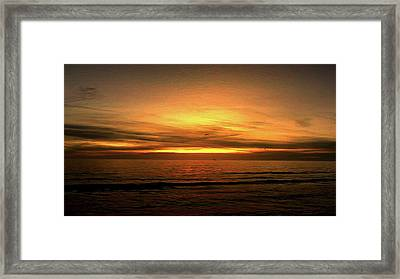 Sun Set On The Gulf Framed Print
