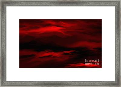Framed Print featuring the painting Sun Sets In Red by Rushan Ruzaick