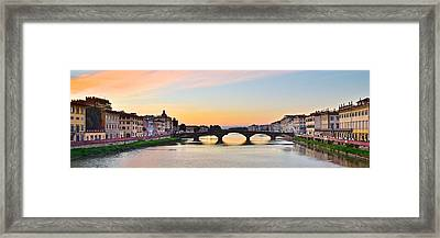 Sun Sets On Florence Framed Print by Frozen in Time Fine Art Photography