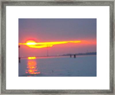Sun Sets Over Venice IIi Framed Print by Viviana Puello Villa