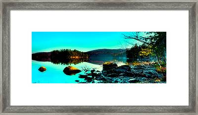 Sun Setting On 7th Lake Framed Print by David Patterson