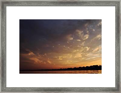 Sun Settles On Connecticut Framed Print by Karol Livote