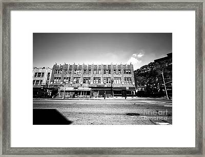 Sun Shines On The Village Framed Print
