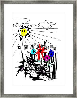 Sun Shiny Day Framed Print by Teddy Campagna