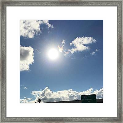 Sun Sky Angel Framed Print