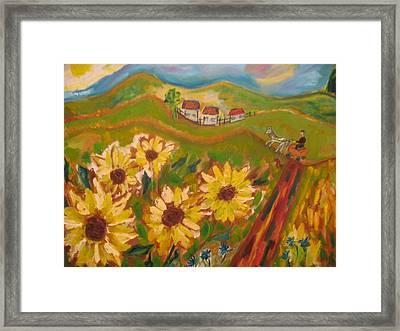 Sun Song Framed Print by Maria  Kolucheva