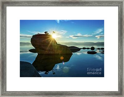 Sun Star Mirror Framed Print