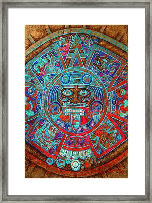 Sun Stone Framed Print