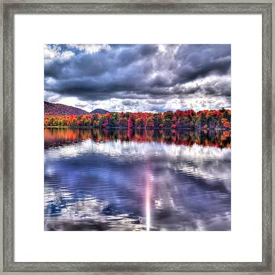 Framed Print featuring the photograph Sun Streaks On West Lake by David Patterson
