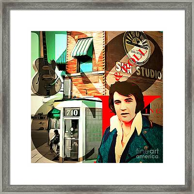 Sun Studio Elvis Presley Birthplace And The King Of Rock And Roll Framed Print by Wingsdomain Art and Photography