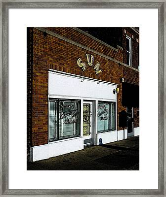 Framed Print featuring the photograph Sun Studio by Jim Mathis