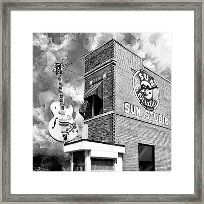 Sun Studio - Memphis Landmark Framed Print by Mark Tisdale