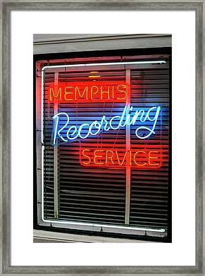 Sun Studio Neon Sign Memphis Framed Print by Chris Smith