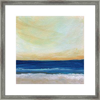 Sun Swept Coast- Abstract Seascape Framed Print by Linda Woods