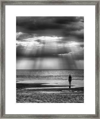 Sun Through The Clouds Bw 11x14 Framed Print