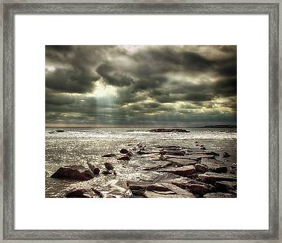 Sun Thru The Clouds Framed Print by Tom Gari Gallery-Three-Photography