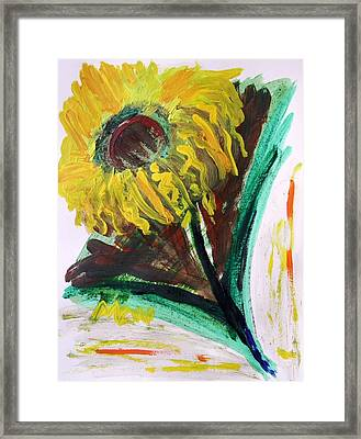 Framed Print featuring the painting Sun Tilt by Mary Carol Williams