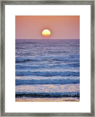 Sun To Sea Framed Print