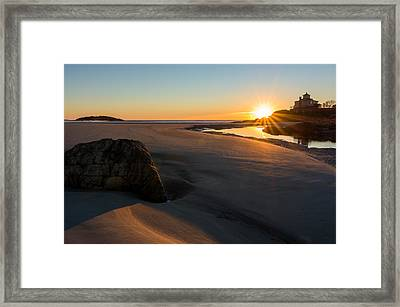 Sun Up Good Harbor Framed Print