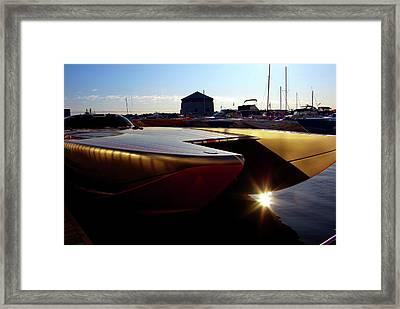 Sun Up On Confederation Basin Framed Print
