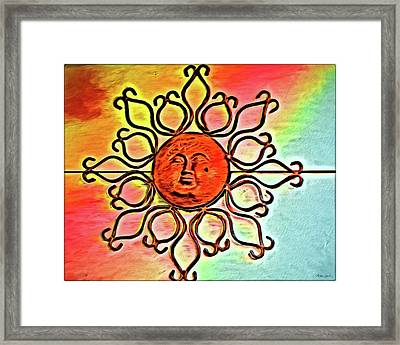 Sun Wall Decoration Framed Print