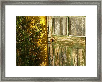 Sun Warmed And Weathered Framed Print by Bel Menpes