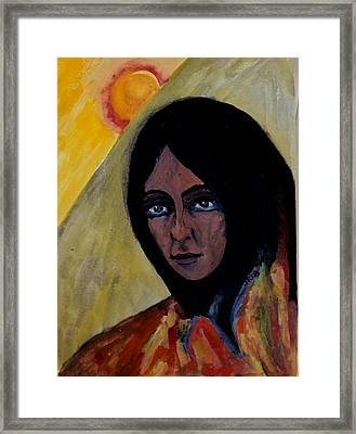Sun Woman Framed Print