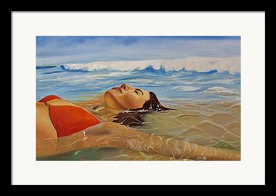 Laguna Beach Paintings Framed Prints