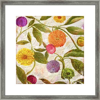 Sunbathers Botanical I Framed Print by Mindy Sommers