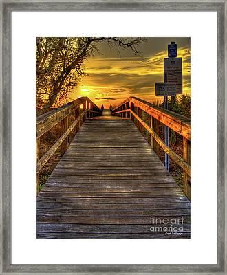 Sunbathing Ahead Tybee Island Sunrise Tybee Island Collection Art Framed Print