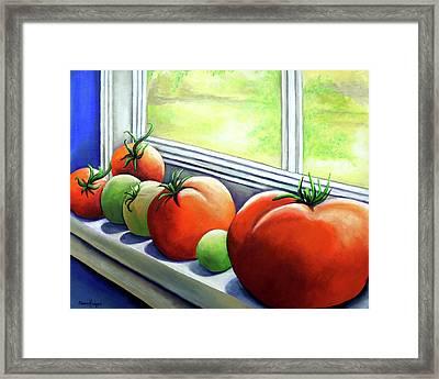 Sun Bathing Framed Print by Elaine Hodges
