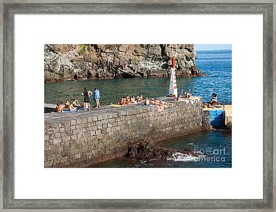 Sunbathing In Azores Framed Print