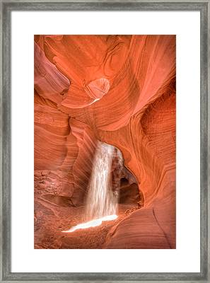 Sunbeam - Antelope Canyon Framed Print by Andreas Freund