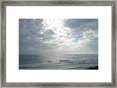 Sunbeam Breakthrough Framed Print