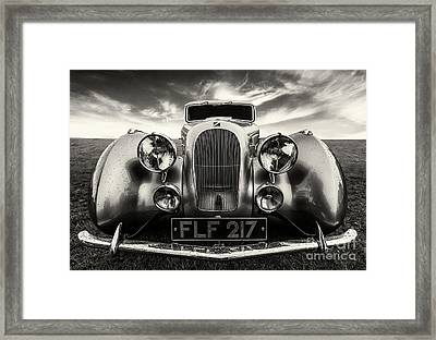 Sunbeam Talbot Darracq Framed Print by Adrian Evans