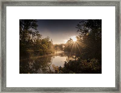 Framed Print featuring the photograph Sunbeams  by Annette Berglund