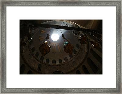 Sunbeams At The Church Of The Holy Sepulchre Framed Print by Heidi Pix