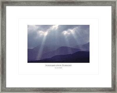 Framed Print featuring the digital art Sunbeams Over Derwent by Julian Perry