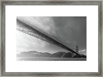 Sunbeams Through The Golden Gate Black And White Framed Print by Scott Campbell